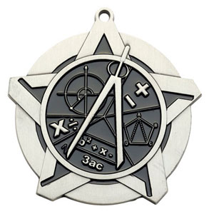 43004 Math Medals with Six Pricing Options as low as $1.40