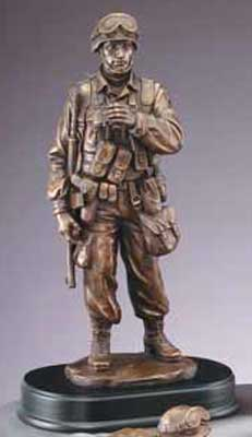 Military Solider at Ease Sculpture Mil-200