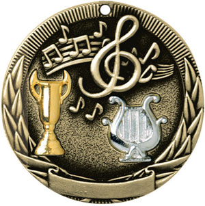 TR230 Tri-Colored Music Medals with Six Pricing Options