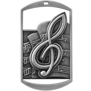 DT230 Dog Tag Music Medal with Six Pricing Options
