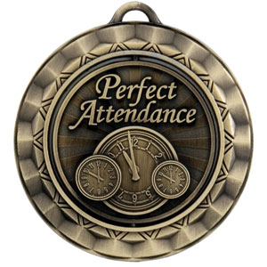 SP355 Spinning Perfect Attendance Medal with Six Pricing Options