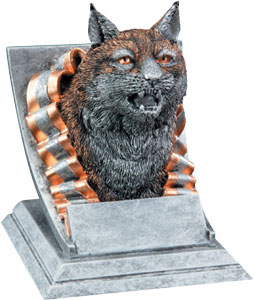 Wildcat, Bobcat Mascot Trophy, Wildcat Bobble Head