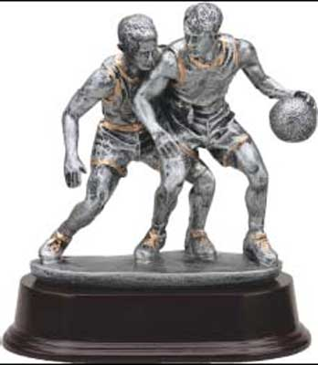 Boy's Resin Basketball Trophy