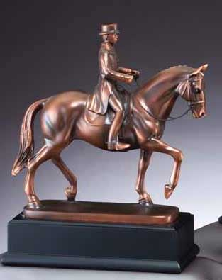 Resin Male Dressage Sculpture