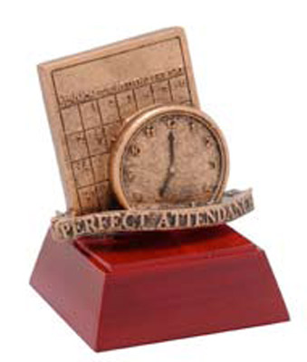 Resin Perfect Attendance Trophy