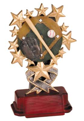 Starburst Resin Baseball Trophies