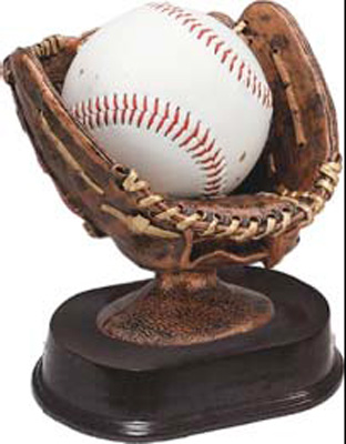 Ball Glove Resin Trophy Ball Holder RF680