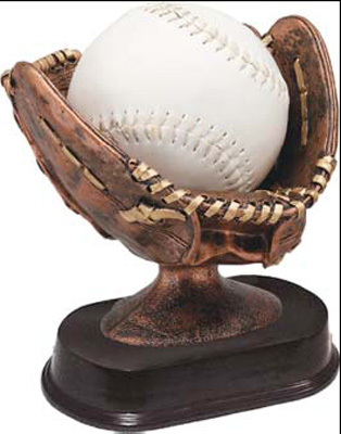 Softball Glove Resin Trophy Statue RF690SG