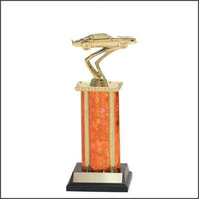 Car Trophies and Truck Trophies with Single Square Columns