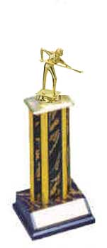 Billiard Single Column Trophy, S1