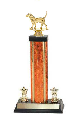 S3 Beagle Field Trial Trophies with a single rectangular column and trim.