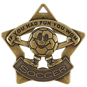 XS217 Fun Soccer Star Medal with Six Pricing Options