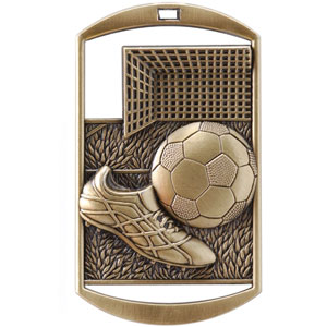 DT213 Dog Tag Soccer Medal with Six Pricing Options
