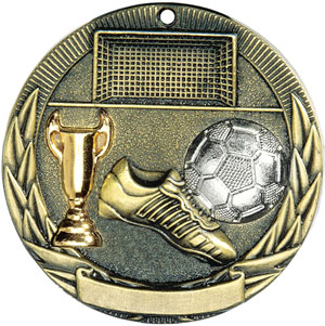 TR213 Tri-Colored Soccer Medals with Six Pricing Options