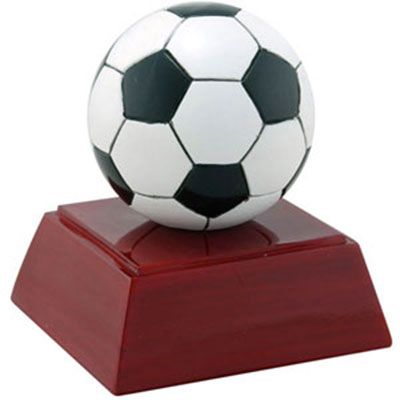 Resin Soccer Ball Trophy Statue RC-415