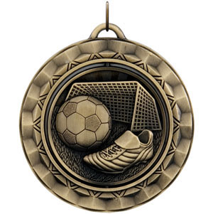 SP314 Spinning Soccer Medal with Six Pricing Options