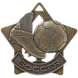 XS206 Soccer Star Medal with Six Pricing Options