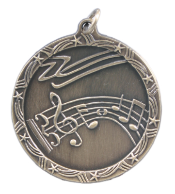 ST16 Music Medals with Six Pricing Options, as low as $.99