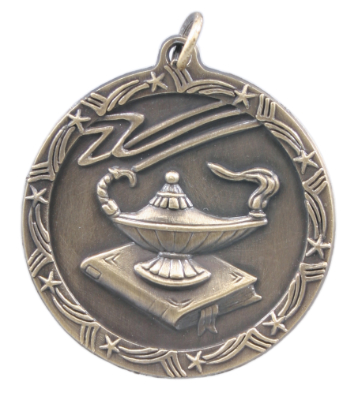 ST18 Lamp of Knowledge Medals with Six Pricing Options, as low as $.99