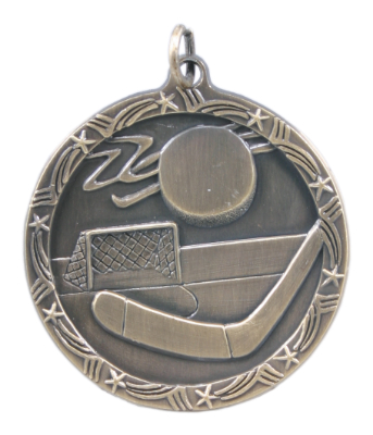 ST70 Hockey Medals with Six Pricing Options, as low as $1.40