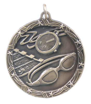 ST71 Swimming Medals with Six Pricing Options, as low as $1.40