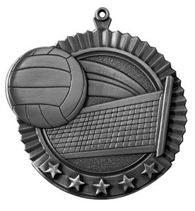 36030 Huge Volleyball Medal with Six Pricing Options