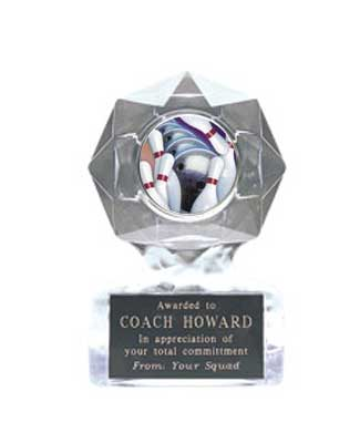 Acrylic Star Ice Bowling Award