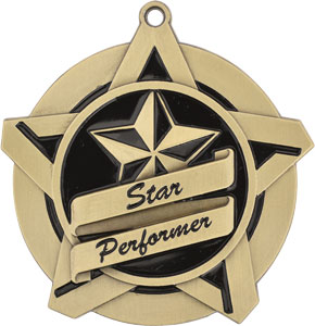 43019 Star Performer Medals with Six Pricing Options as low as $1.40