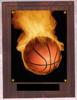 Image Basketball Plaque N Series on solid walnut