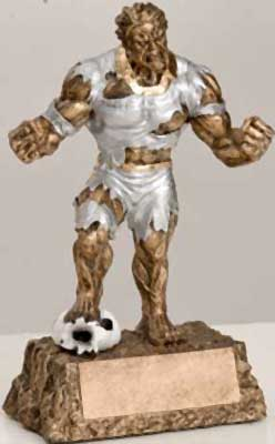 Monster Soccer Trophy Statue