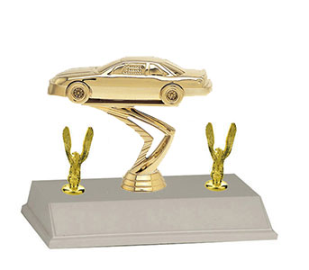 3BF Stock Car Trophies with 3 Topper Options