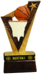 Resin Basketball Trophybands 6 1/2 inches tall with wearable wrist band.