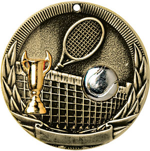 TR222 Tri-Colored Tennis Medals with Six Pricing Options