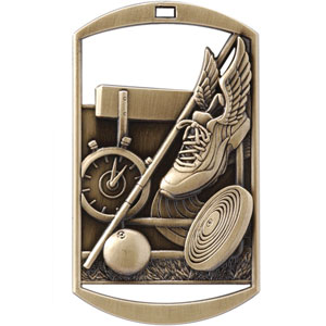 DT217 Dog Tag Track and Field Medal with Six Pricing Options