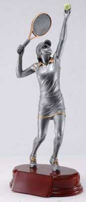 Resin Women Tennis Trophy Statue