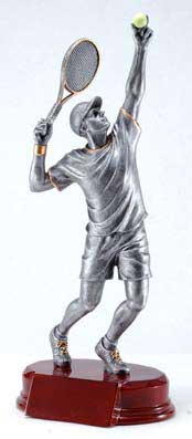 Resin Men Tennis Trophy Statue