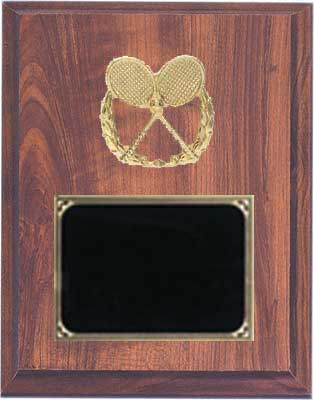 Deluxe Cherry Finish Tennis Plaque