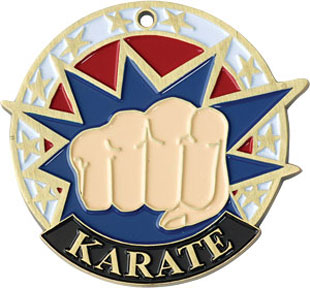 38100 Colorful USA Karate Medal with Six Pricing Options