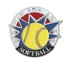 Colorful USA Softball Medal with Six Pricing Options