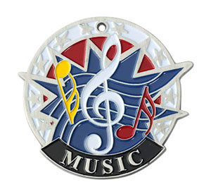 38120 Colorful USA Music Medal with Six Pricing Options