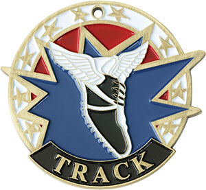 Colorful USA Track Medal with Six Pricing Options