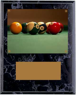 Black Marble Finish Image Pool Plaques V Series