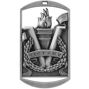 DT290 Dog Tag Victory Torch Medal with Six Pricing Options