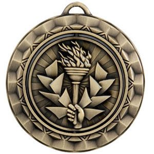 SP390 Spinning Torch Medal with Six Pricing Options