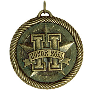 Scholastic Honor Roll Medal VM-254 with Neck Ribbon