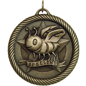 Spelling Bee Medal VM-259 with Neck Ribbon