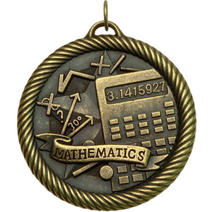 Math Value Medal VM-260 with Neck Ribbon