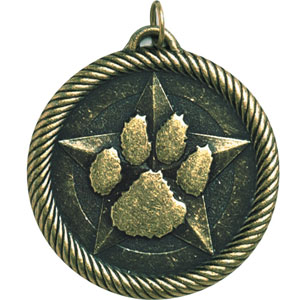 Value Paw Print Mascot Medal VM-266 With Neck Ribbon