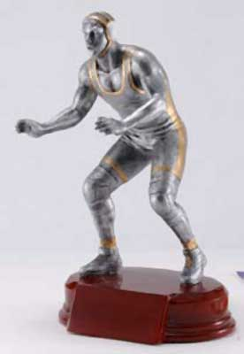 Resin Wrestling Trophy Statue