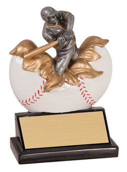 Colorful Xploding Baseball Trophies